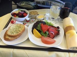 plateau repas dans l avion