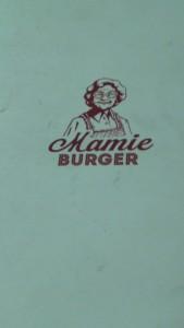 voici une carte du restaurant Mamie Burger