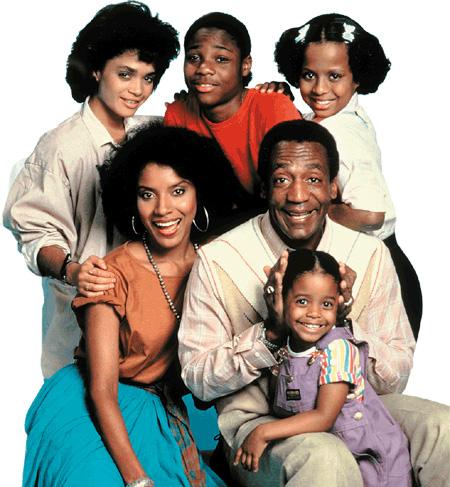 la famille Huxtable dans la série Cosby Show
