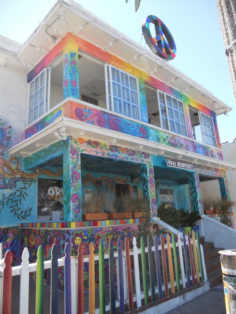 une maison colorée à San Diego Ocean Beach