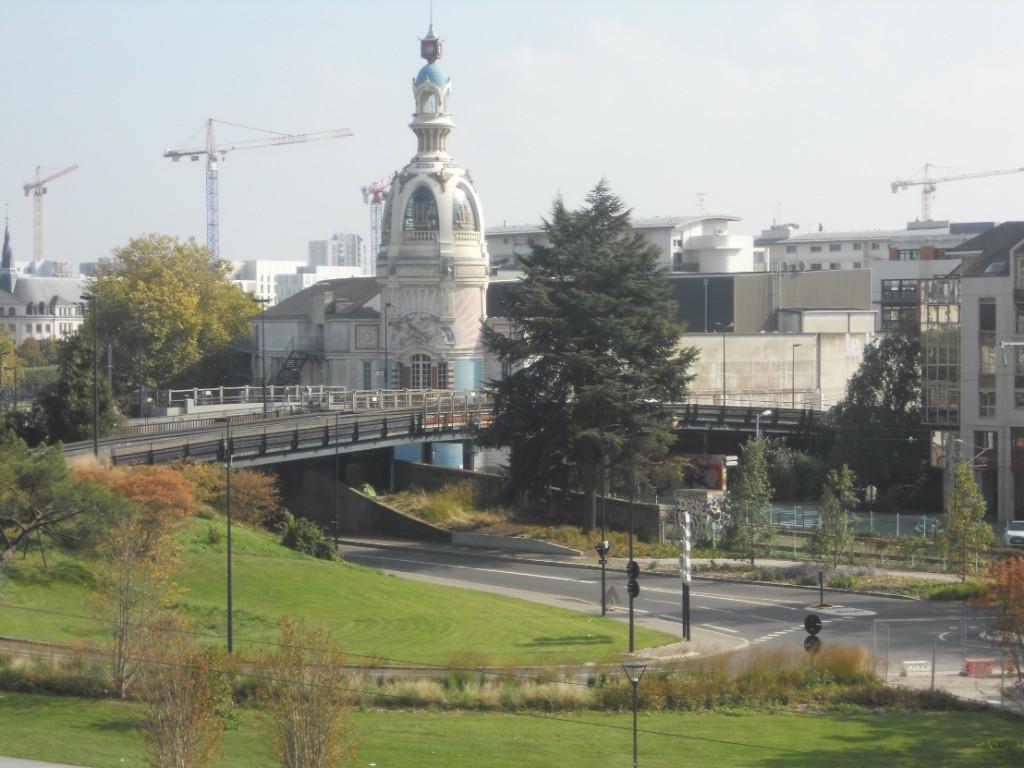 Vue sur la tour Lu à Nantes