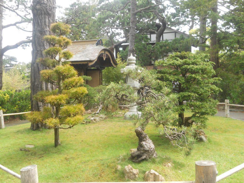 nous sommes bien aux Usa dans le japenese tea garden