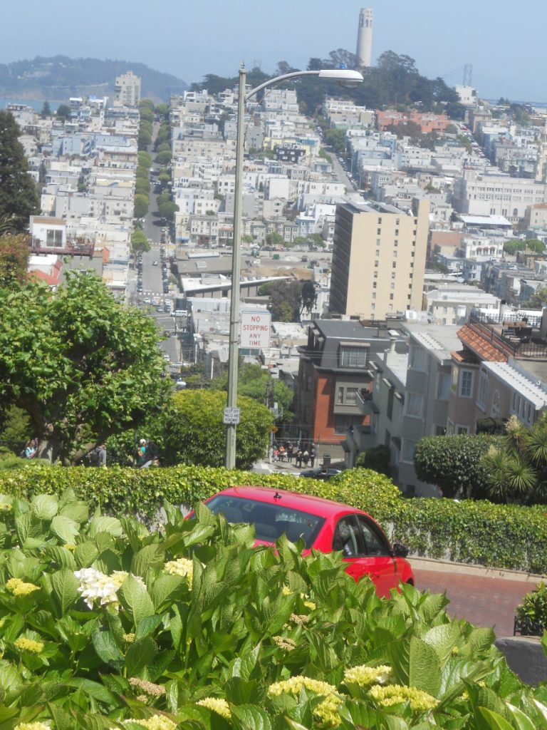 depuis la Lombard Street on a une vue magnifique sur la ville