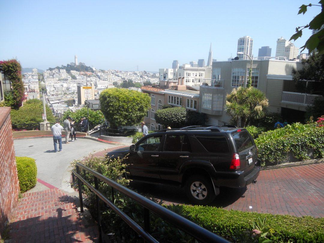 J'ai exploré cette belle ville de San Francisco, ici la Lombard Street