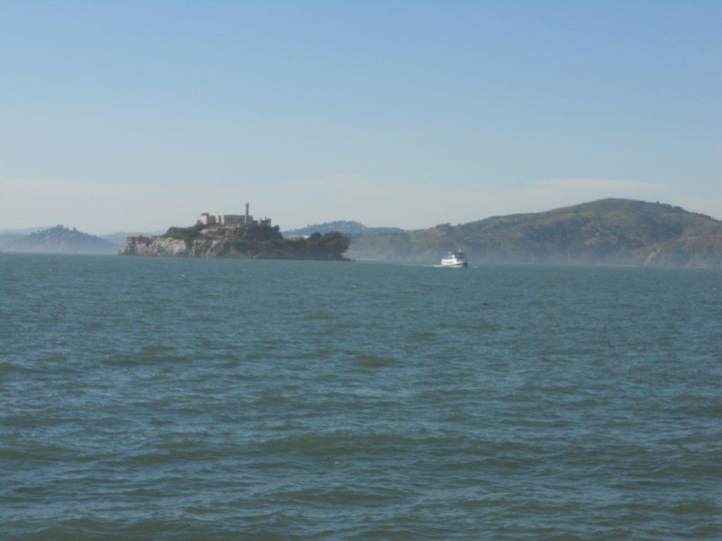 direction Alcatraz nous sommes sur le ferry