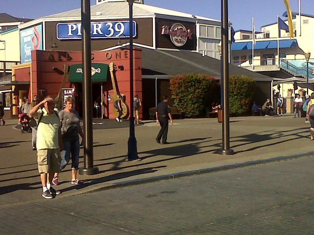 les boutiques et resto du pier 39 à San Fracisco