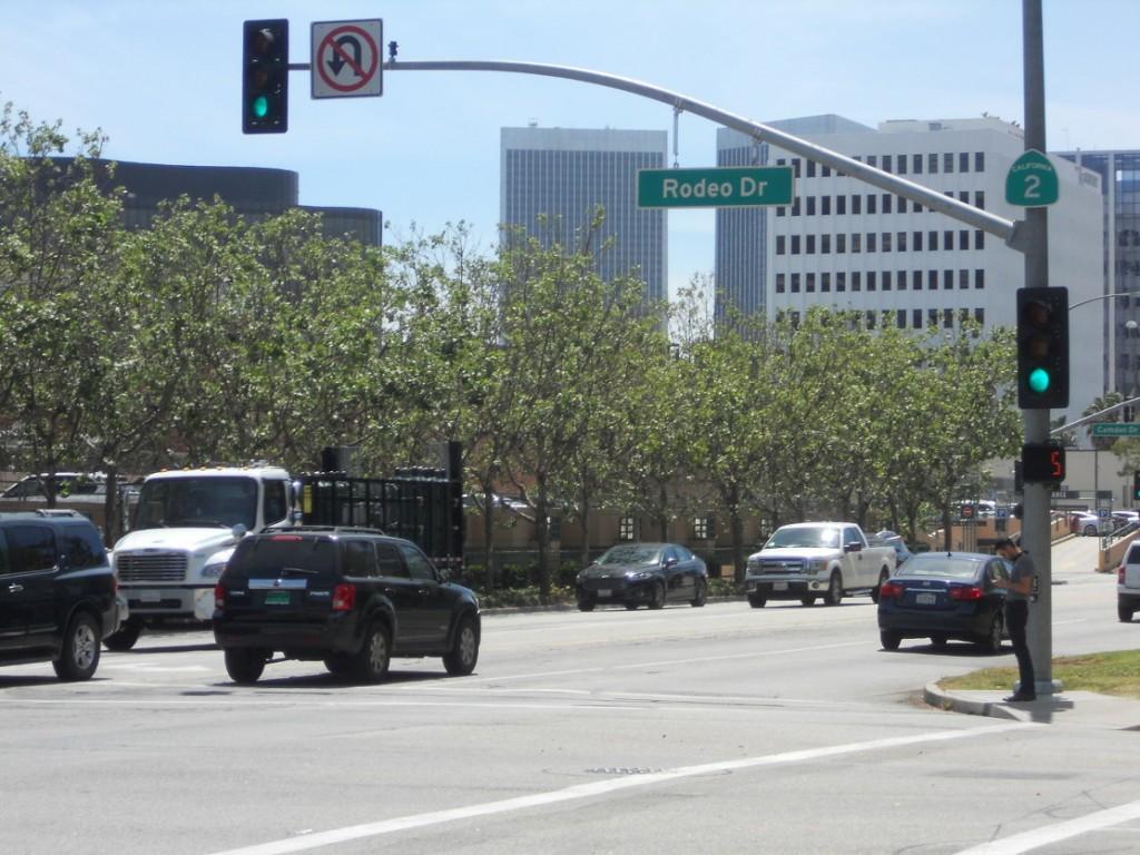ici on retrouve les rues de LOs Angeles comme dans les films