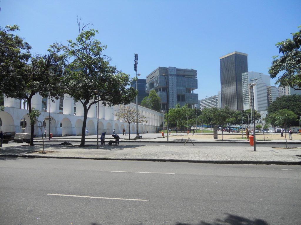 ici se trouvent les fameuses arches de Lapa à Rio de Janeiro