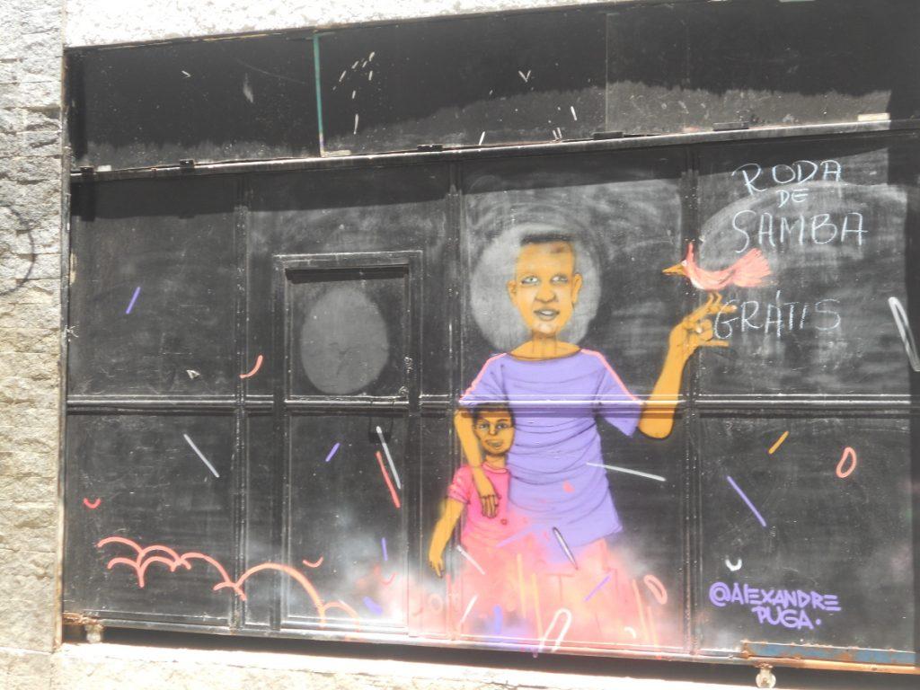 il y a même su streetart à Rio