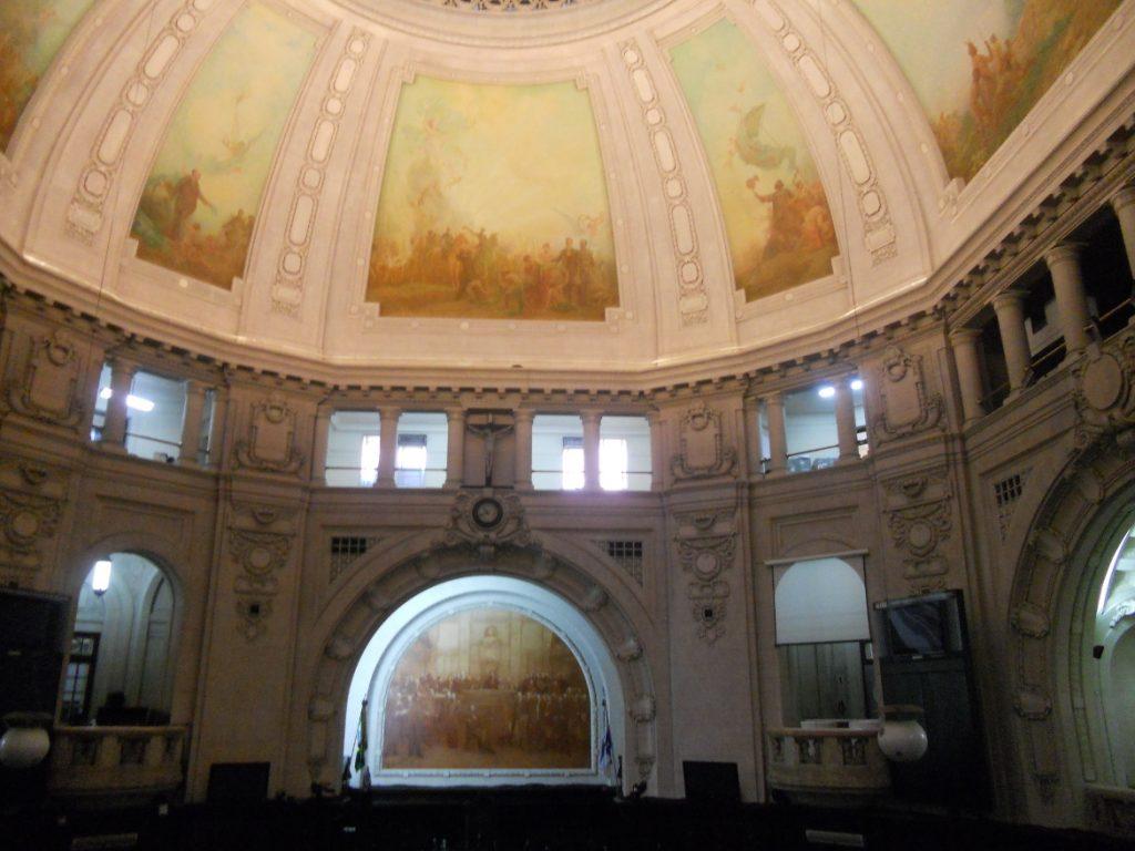 ici l intérieur du Palais Tiradentes à Rio De Janeiro
