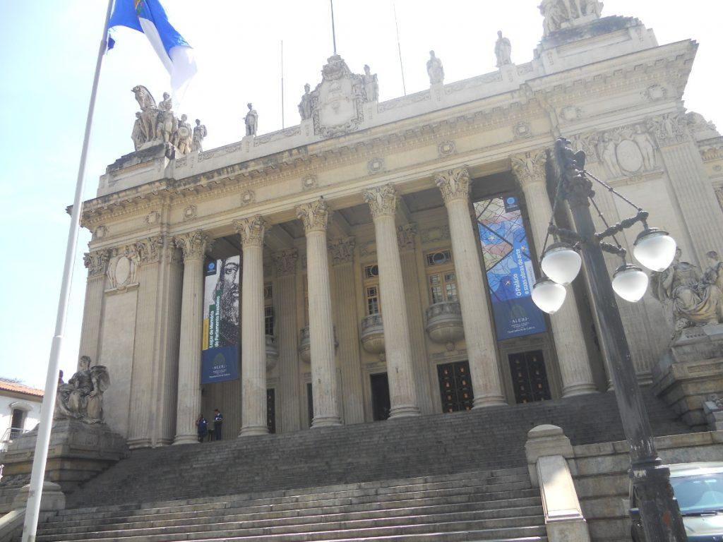 ici le palais Tiradentes à Rio