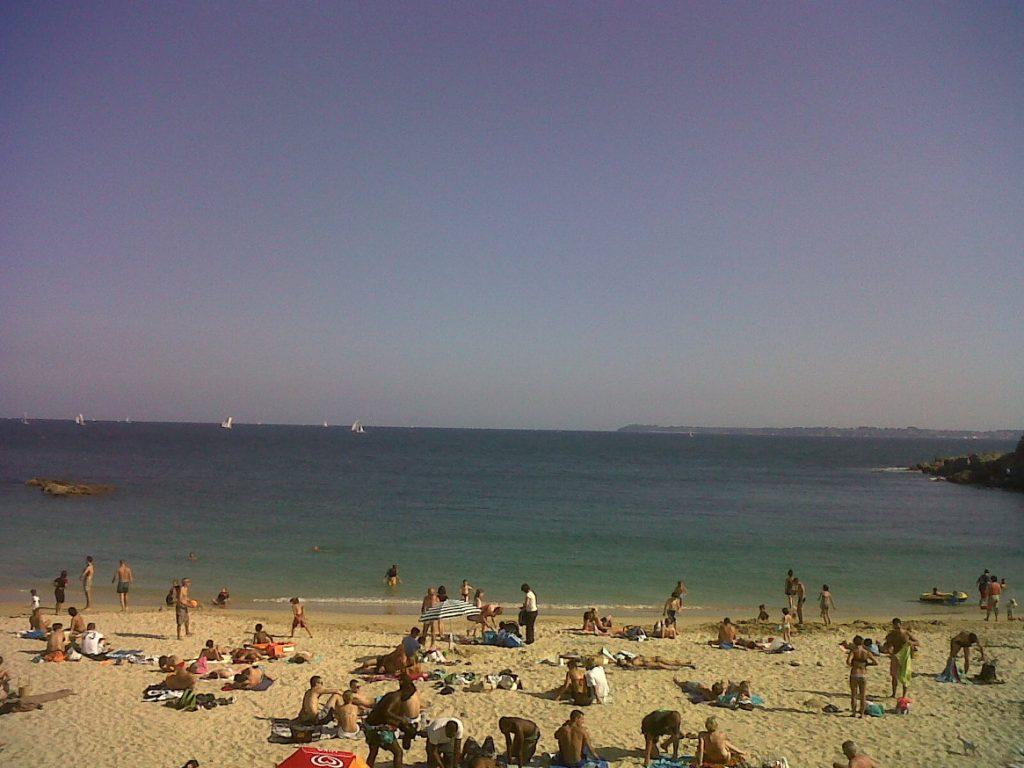 la plage de Larmor Plage est une très belle plage de la station balnéaire de la ville