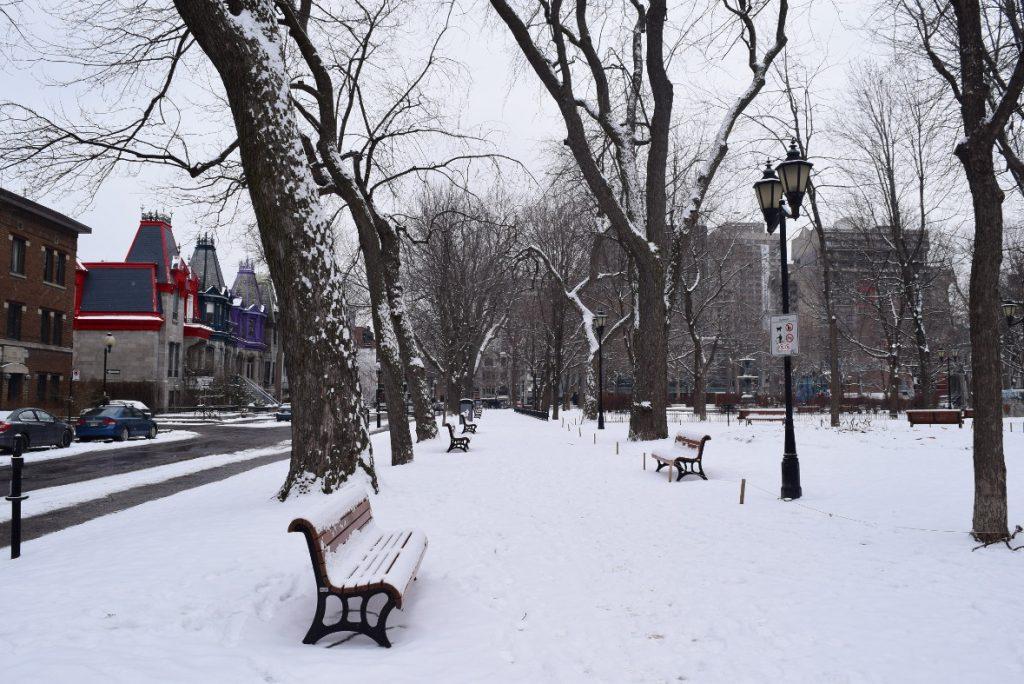 Montréal sous la neige c est beau