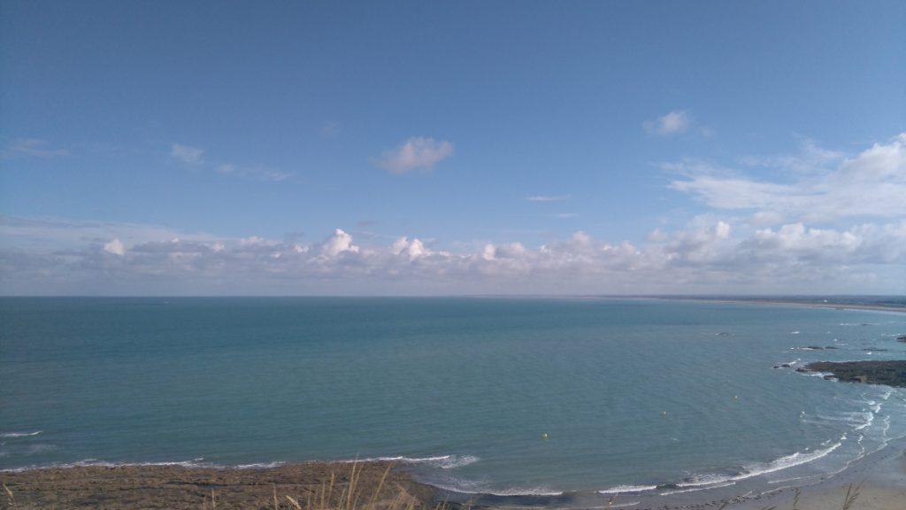 vue magnifique de la côte normande