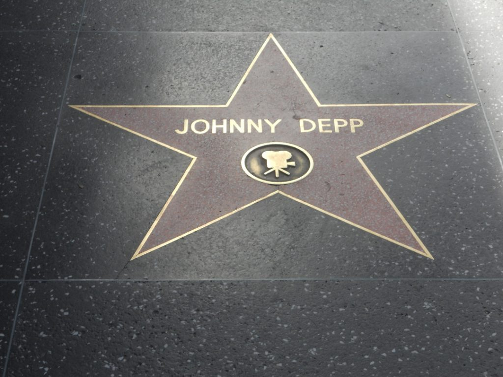 Johnny Depp est une star d'Hollywwod