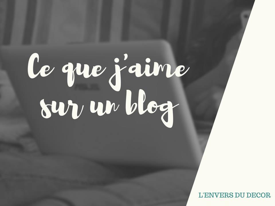 choses que j'aime sur un blog