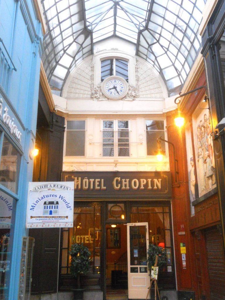 hôtel Chopin dans passage Jouffroy