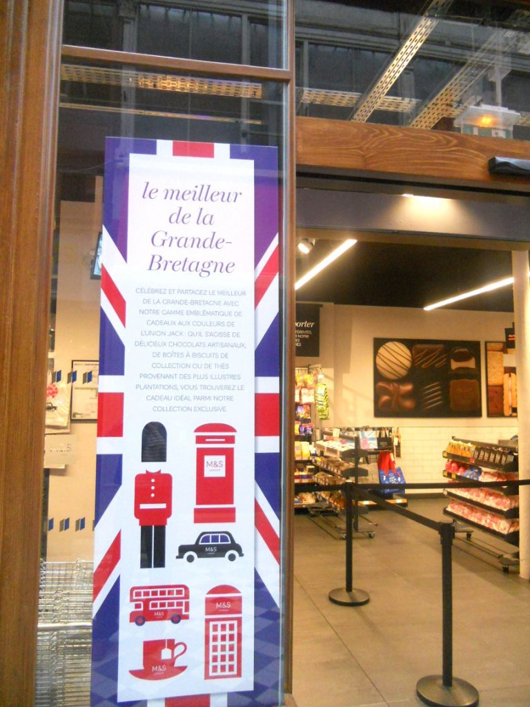 Marks and Spencer dans passage jouffroy