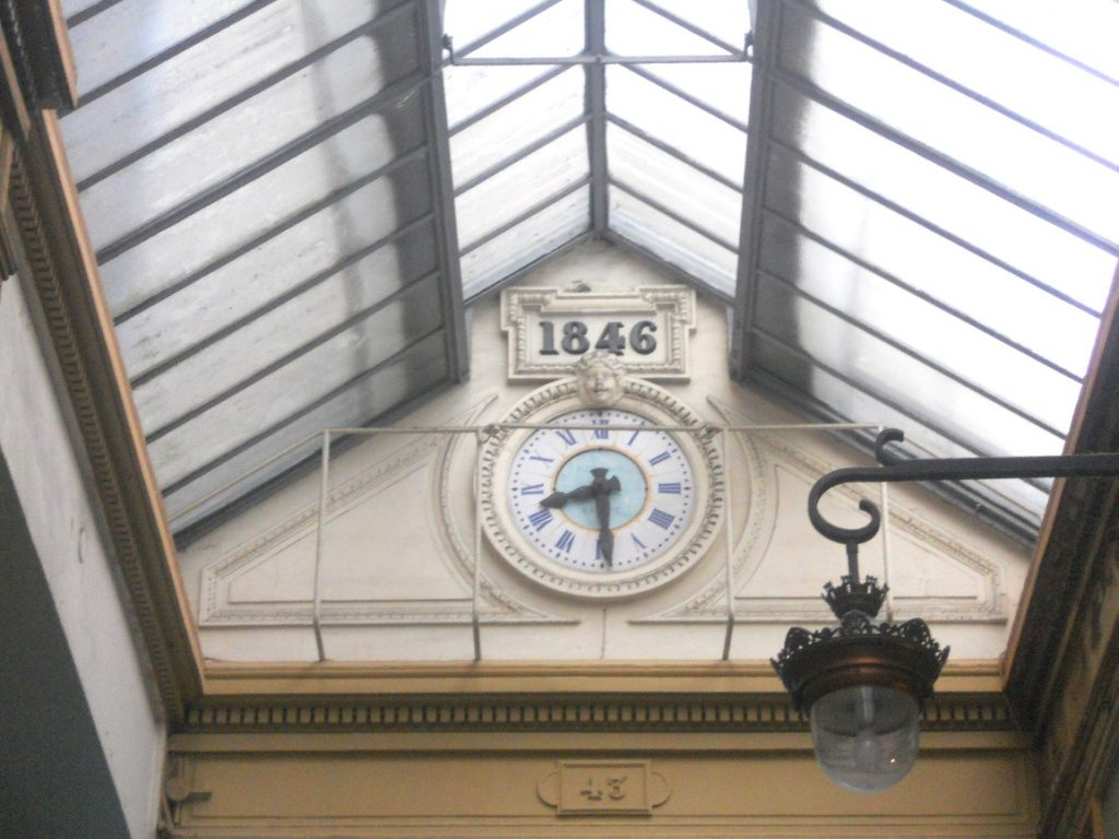 horloge du passage Jouffroy