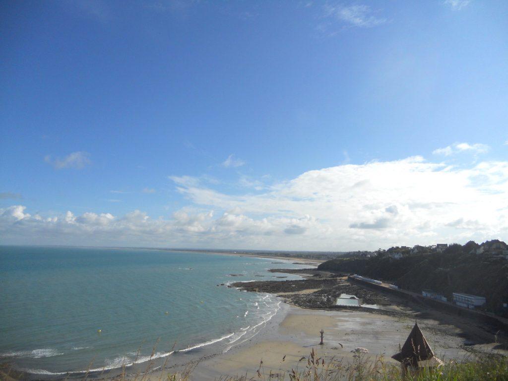 vue incroyable sur la plage de Ganville