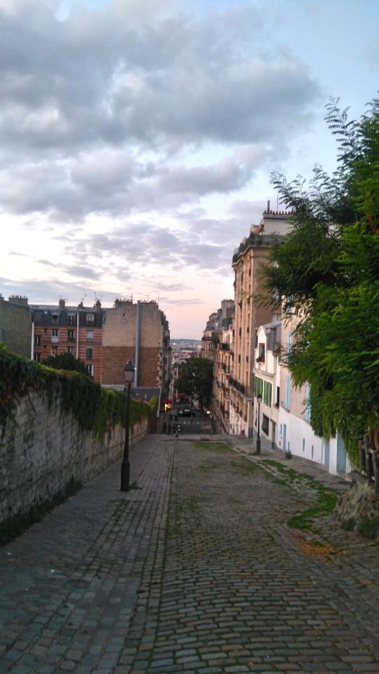 début de soirée à Paris
