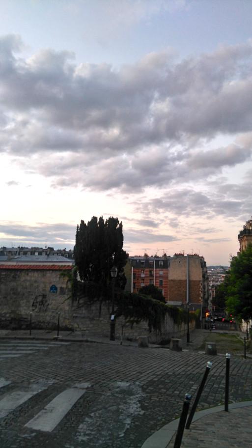 sublime vue à Montmartre