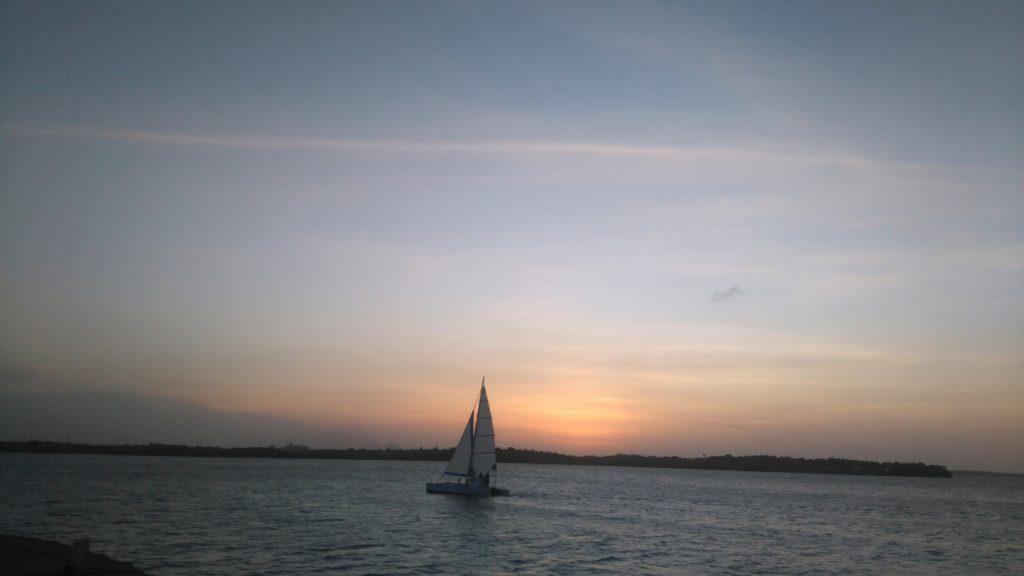coucher de soleil à Sao Luis