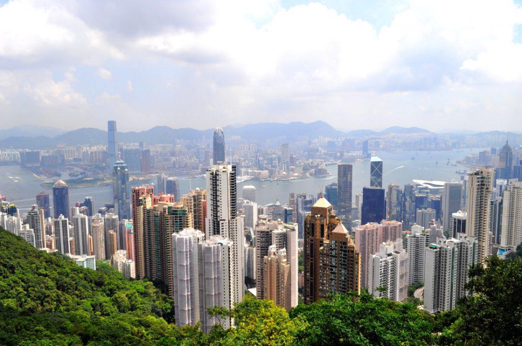vue depuis Hong-Kong