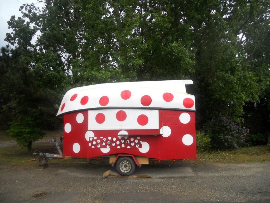 camion à pizza sur l'île de Groix