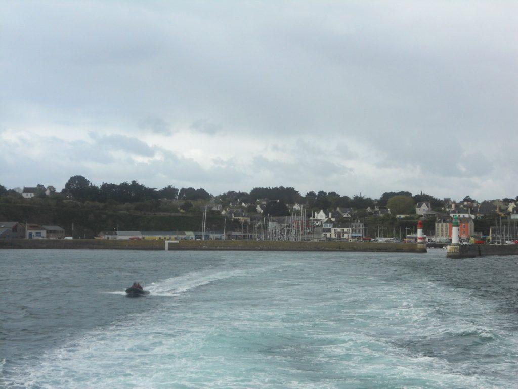 dernière vue de l'île de Groix