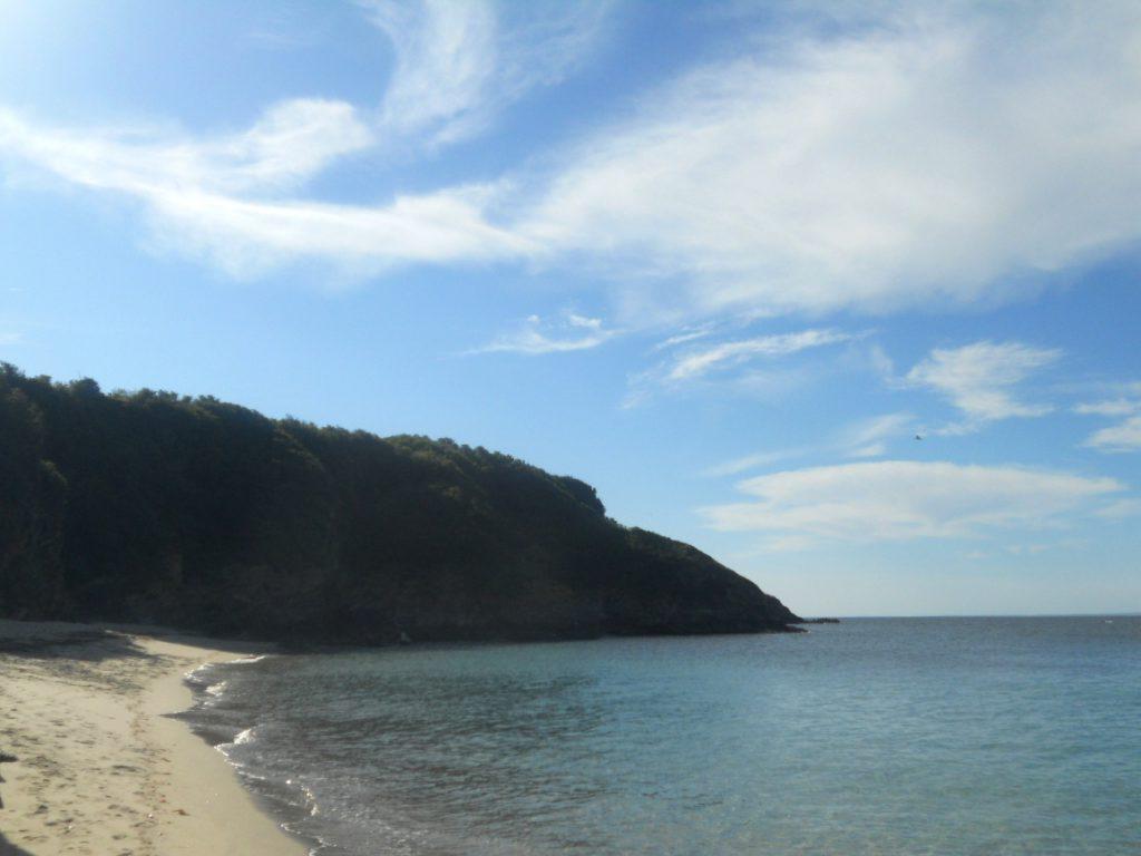 plage sur île bretonne