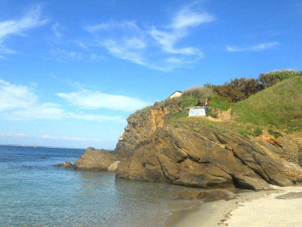 rocher sur île de Groix