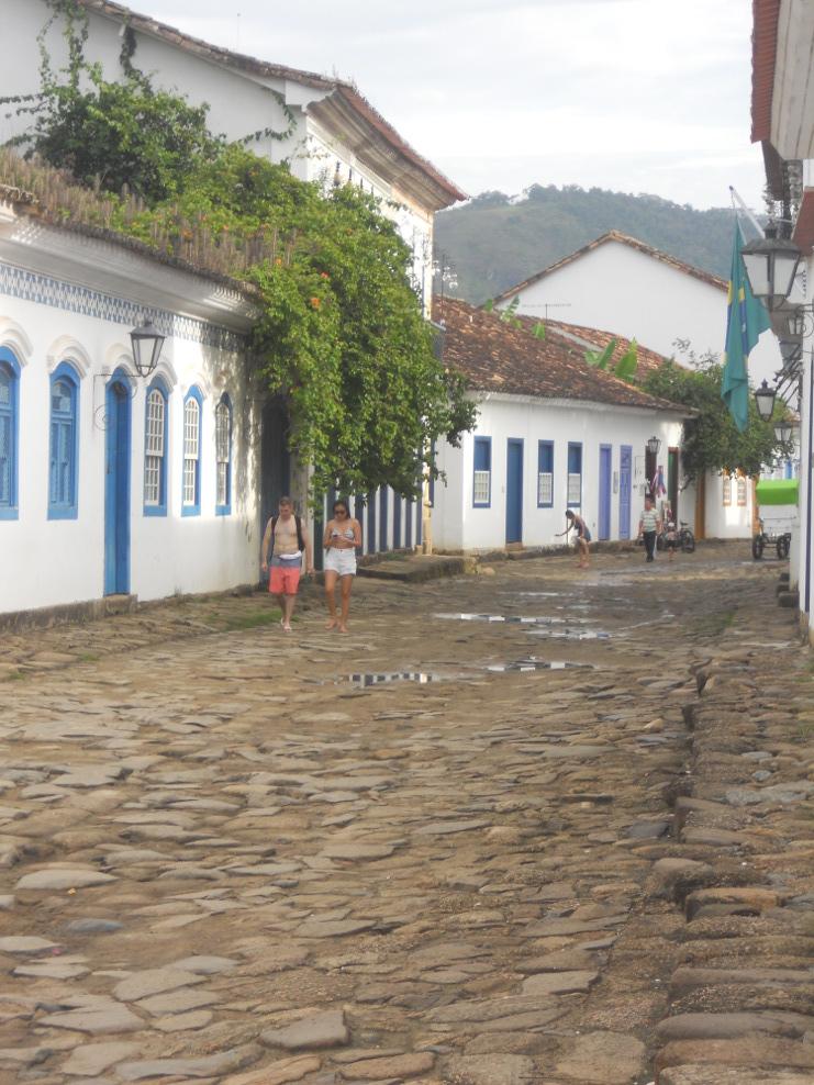 rues tranquilles du centre historique de Paraty