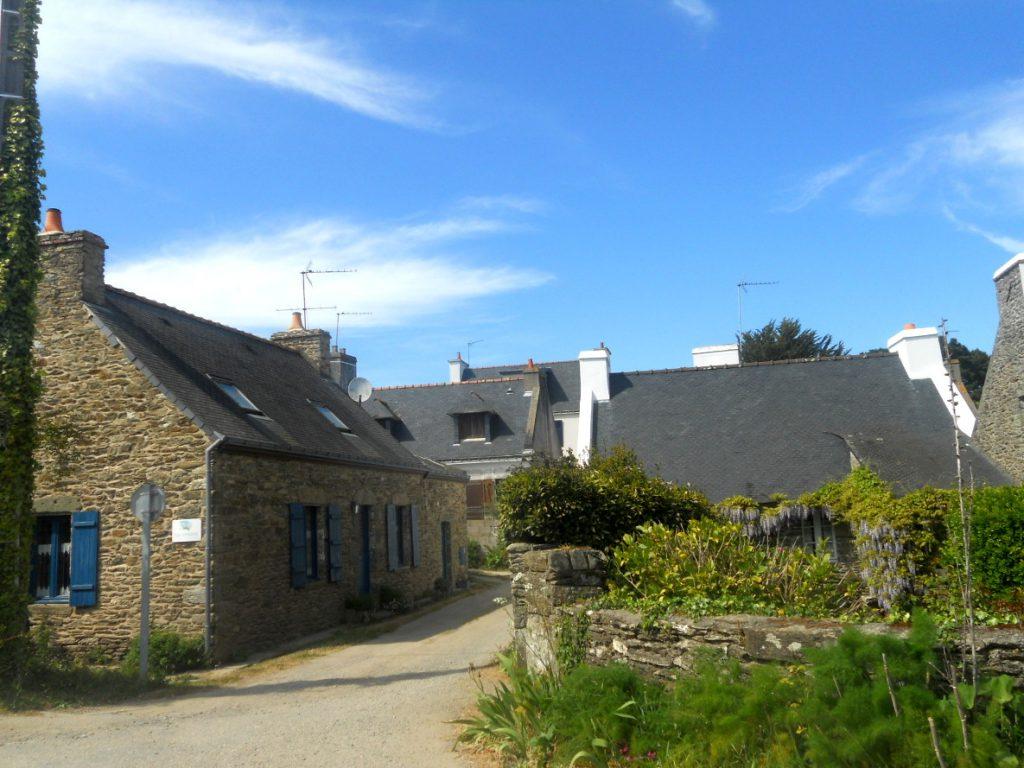 village sur l'île de Groix