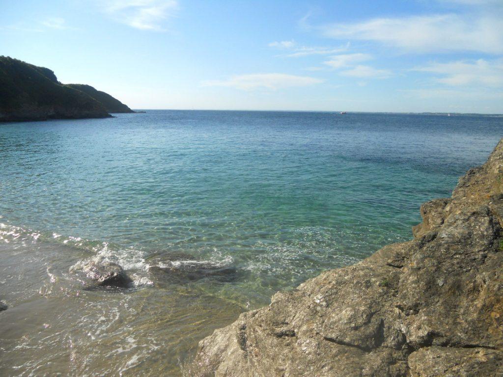 vue sur plage du Morbihan
