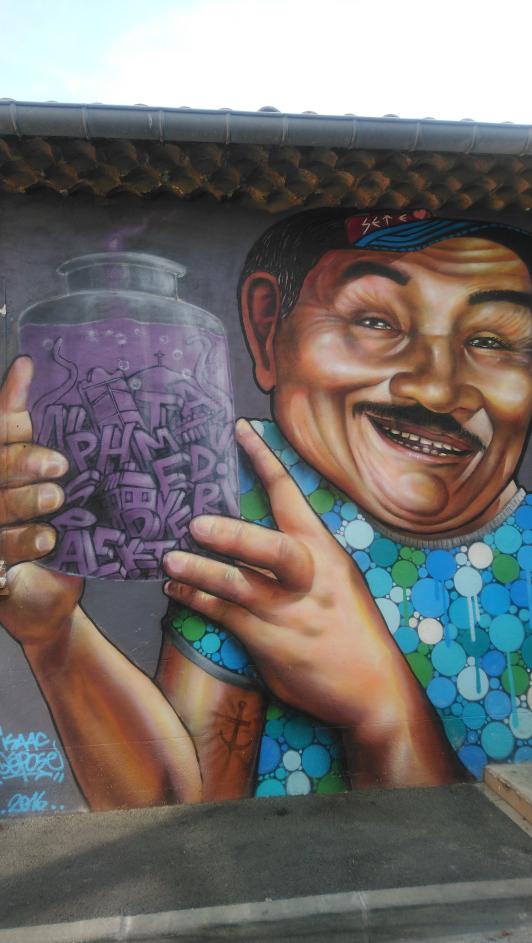 une oeuvre de street art à Sète