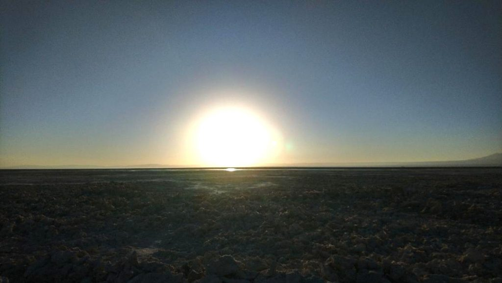 coucher de soleil à Pucon