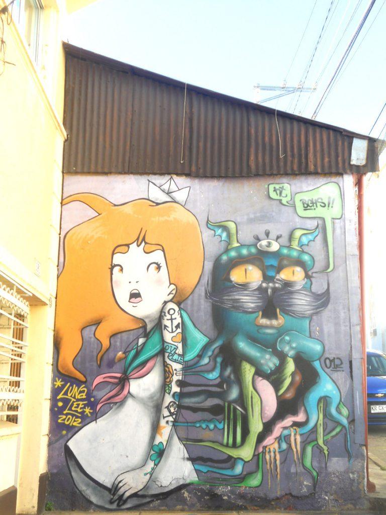 découverte du street art à Valparaiso
