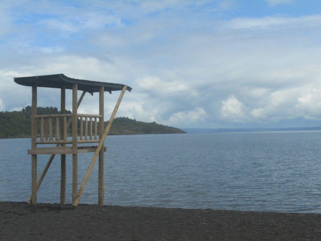 voir la plage de Pucon au Chili