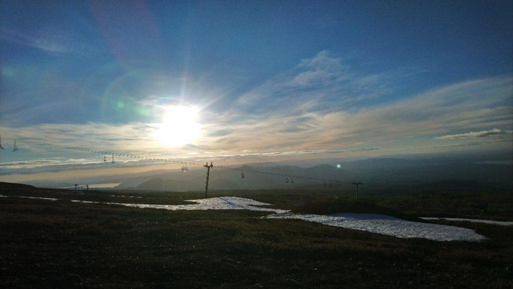 coucher de soleil autour de Pucon