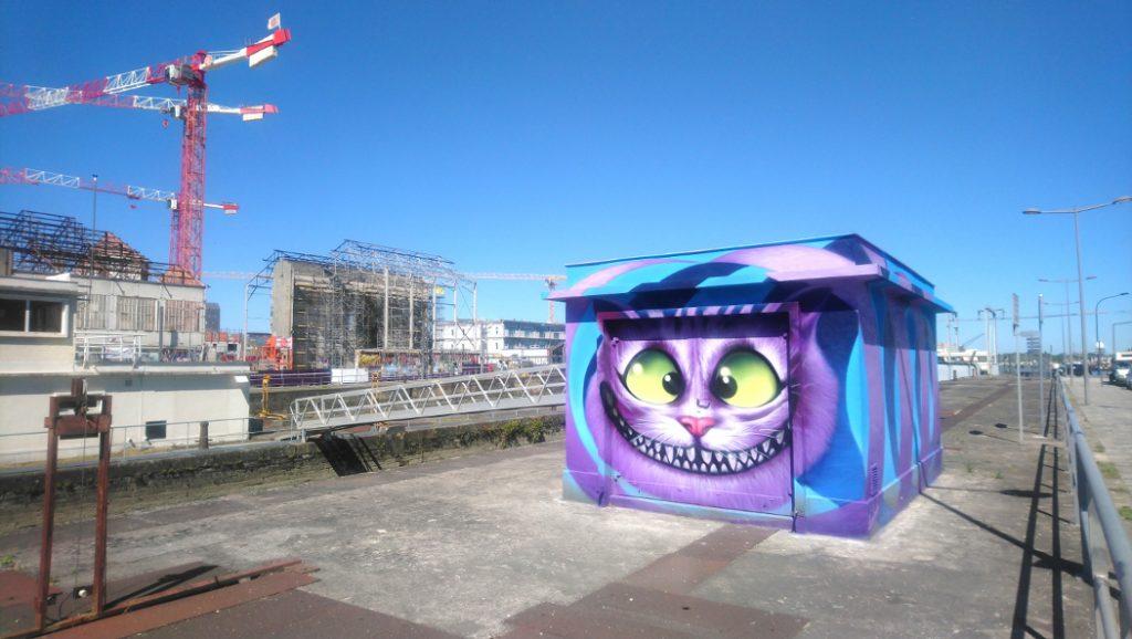 street art à Bordeaux près de la Cité du vin